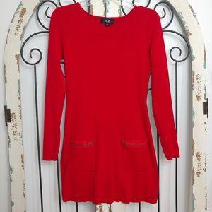 AGB red knit dress medium